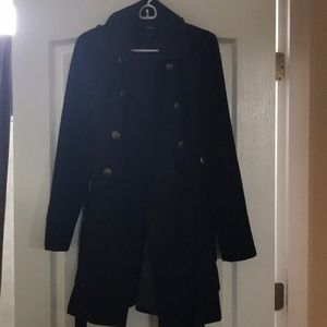 Black Express wool dress jacket size Medium